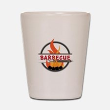 Barbecue Flame Logo Shot Glass