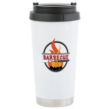 Barbecue Flame Logo Travel Mug