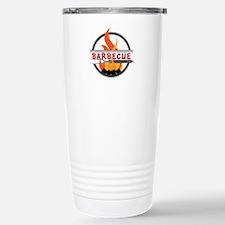 Barbecue Flame Logo Travel Mug