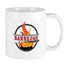 Barbecue Flame Logo Mugs