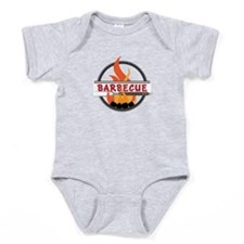 Barbecue Flame Logo Baby Bodysuit