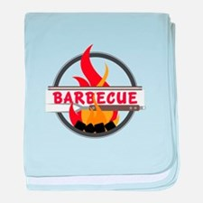 Barbecue Flame Logo baby blanket