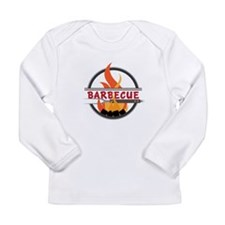 Barbecue Flame Logo Long Sleeve T-Shirt