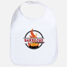 Barbecue Flame Logo Bib