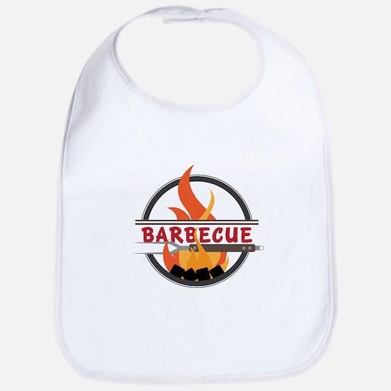 Barbecue Flame Logo Bib
