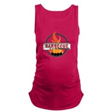 Barbecue Flame Logo Maternity Tank Top