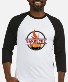 Barbecue Flame Logo Baseball Jersey