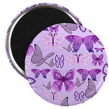 Purple Awareness Butterflies Magnets
