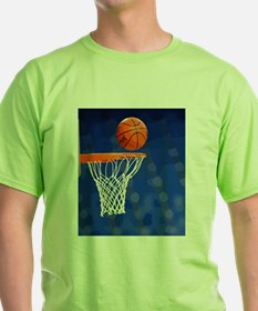 Basketball hoop and ball painting T-Shirt