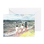 Walk On Beach Note Cards (Pk of 10)