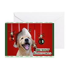 Golden Retriever Christmas Greeting Cards (Pk of 2