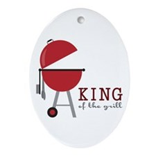 King of the grill Ornament (Oval)