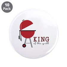 """King of the grill 3.5"""" Button (10 pack)"""