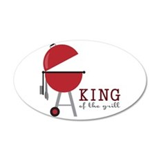 King of the grill Wall Decal