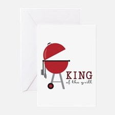 King of the grill Greeting Cards