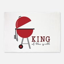 King of the grill 5'x7'Area Rug