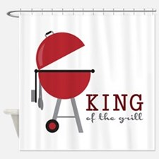 King of the grill Shower Curtain
