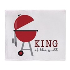 King of the grill Throw Blanket