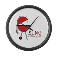 King of the grill Large Wall Clock