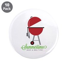"""Summer Time 3.5"""" Button (10 pack)"""
