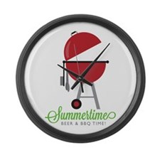 Summer Time Large Wall Clock