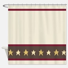 Country Americana Star Shower Curtain