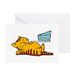Funny Fat Cat Greeting Card