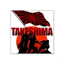 "takeshima Square Sticker 3"" x 3"""