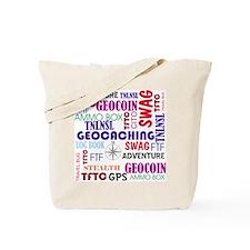 Geocaching Words Tote Bag