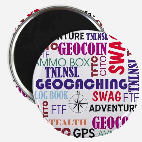 """Geocaching Words 2.25"""" Magnet (10 pack)"""