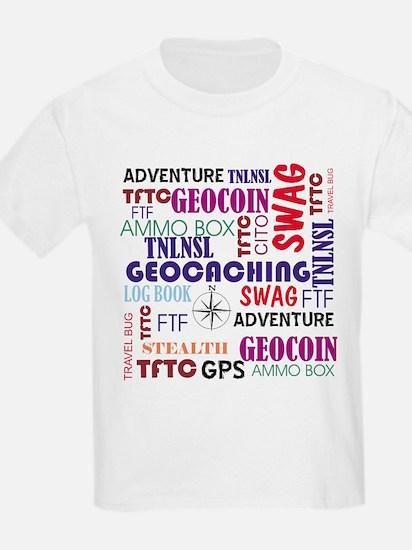 Geocaching Words T-Shirt