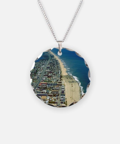 Aerial View of Ocean City Ma Necklace