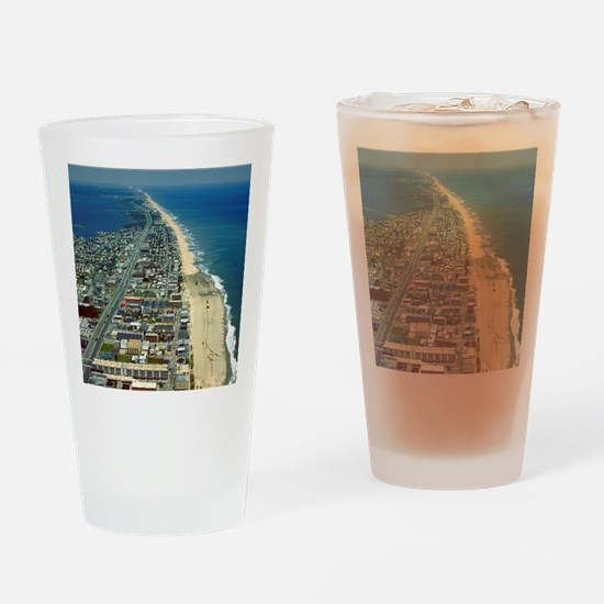 Aerial View of Ocean City Maryland Drinking Glass