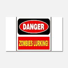 Danger Zombies Lurking Car Magnet 20 x 12
