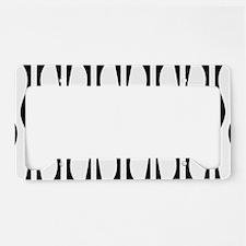Wavy Stripes License Plate Holder