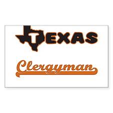 Texas Clergyman Decal
