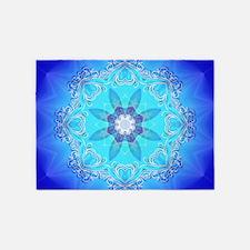 Awesome blue kaleidoskop 5'x7'Area Rug