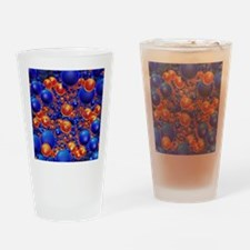 Shiny 3D balls Drinking Glass