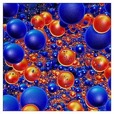 Shiny 3D balls Poster