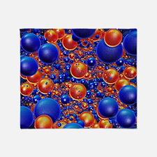 Shiny 3D balls Throw Blanket