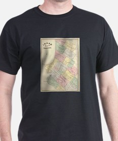 Vintage Map of Oakland California (1878) T-Shirt