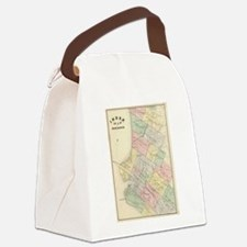 Vintage Map of Oakland California Canvas Lunch Bag
