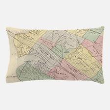 Vintage Map of Oakland California (187 Pillow Case