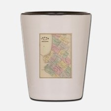 Vintage Map of Oakland California (1878 Shot Glass