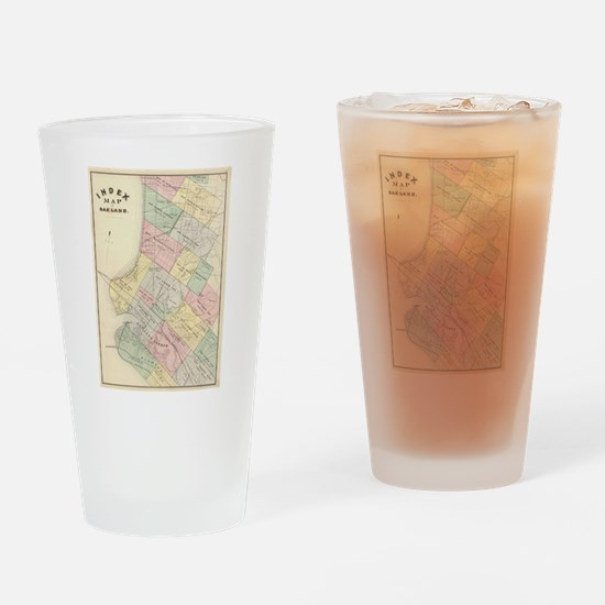 Vintage Map of Oakland California ( Drinking Glass