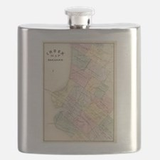 Vintage Map of Oakland California (1878) Flask