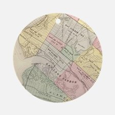 Vintage Map of Oakland California Ornament (Round)