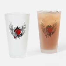 Winged hearts Drinking Glass