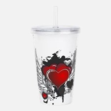 Winged hearts Acrylic Double-wall Tumbler
