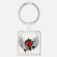 Winged hearts Keychains